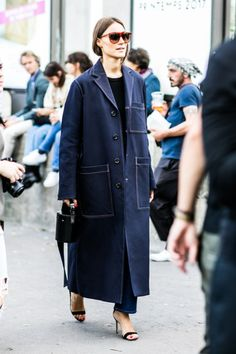 The street style that's inspiring us from Paris Fashion Week Spring/Summer Pictures by Sandra Semburg. Street Style 2016, Street Look, Street Style Looks, Street Chic, Street Wear, Cool Street Fashion, Paris Fashion, Fall Inspiration, Fall Collection