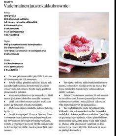 Vadelmainen juustokakkubrownie - listalle pakko kokeilla :) Raspberry, Baking, Fruit, Food, Bakken, Eten, Raspberries, Bread, Backen
