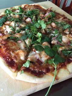 bbq chicken pizza [homemade] #TTDD#TheThingsDadsDo