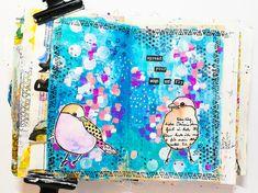 Kunstjournal Inspiration, Art Journal Inspiration, Journal Ideas, Art Journal Pages, Art Journals, Art Journal Tutorial, Arts And Crafts, Paper Crafts, Pastel Watercolor