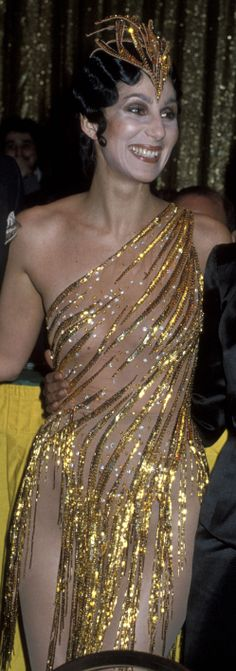 1979 Disco Awards - Cher in Bob Mackie. Also worn on the Cher Special for a performance Take Me Home. I love her smile in this costume and her hair style. Cabaret, Divas, I Got You Babe, Cher Bono, Bob Mackie, Dressed To Kill, Shows, Her Music, Celebs