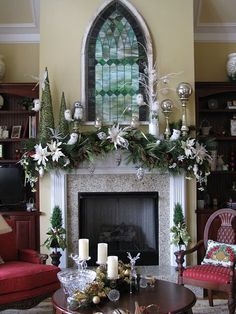 A Whole Bunch of Christmas Mantels  - Christmas Decorating -