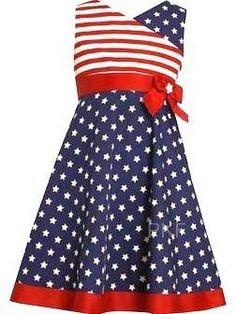 11705a7fffd Bonnie Jean Girls Memorial Day of July Flag Dress