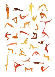 Yoga illustration art print by French artist Marion Barraud. The perfect gift for yoga lovers. Yoga time is a limited edition poster Bikram Yoga, Ashtanga Yoga, Yin Yoga, Yoga Drawing, Yoga Illustration, Yoga Festival, Yoga Art, French Artists, Time Art