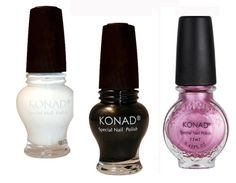 Konad Stamping Nail Art Special 3 Polish (12) Black,White,Vivd Pink BonBon -- Be sure to check out this awesome product.