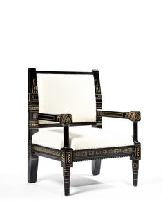 Christopher Dresser - Armchair for Allangate Mansion - ca. 1870 - Provenance : Private collection, England, since 1981