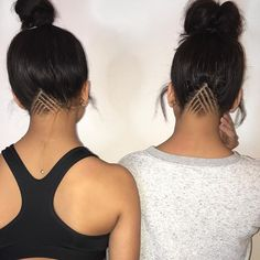Thanks @hazstyle_ for these dope under cuts #siangietwins More