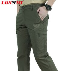 >> Click to Buy << LONMMY Mens Military style Army green pants Sweatpants Cargo pants Multi-pocke trousers Casual Fashion 2017 New #Affiliate