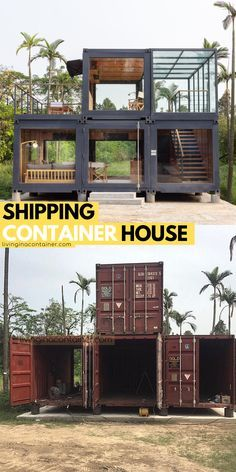 Cargo Container Homes, Shipping Container Home Designs, Shipping Container House Plans, Building A Container Home, Container Buildings, Container Architecture, Container House Design, Tiny House Design, Container Home Plans