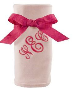 Cotton Pink Baby Blanket with Free Monogram