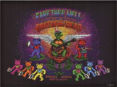 """GRATEFUL DEAD """"FARE THEE WELL""""   Marq Spusta   The Vintage Poster"""