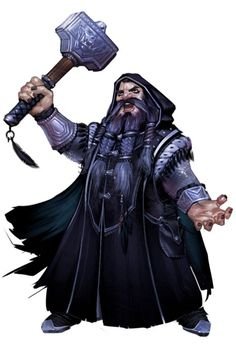 m Dwarf Cleric med armour Hammer