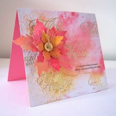 HC4 -fossilized amber picked raspberry distress inks  tim holtz tattered poinsettia