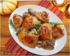 Chicken Roasted with White Wine - use Marques de Caceres white for this super-easy week-night meal!