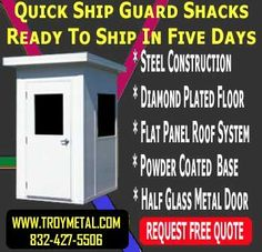 Visionmasters Specialty Commercial Equipment Company -- 832-403-5710: Security Guard Shacks - Troy Metal Buildings