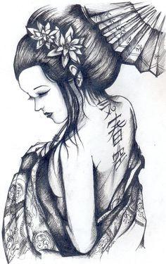 Geisha by JudithXVIII.deviantart.com on @deviantART