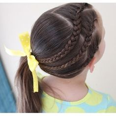 "Braids For Little Girls on Instagram: ""Love this cute style done by @molliebanks5! This style would work well on short hair and will stay in well for school, sports and more! ?"""