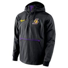 NIKE MEN'S LOS ANGELES LAKERS NBA PACKABLE JACKET, BLACK. #nike #cloth # King Style, King Fashion, Packable Jacket, Los Angeles Lakers, Team Logo, Nike Jacket, Nike Men, Nba, Pullover