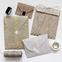 mixed paper envelopes, DIY from paperiaarre