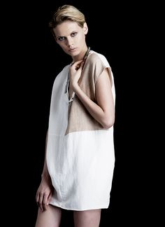 DUNE DRESS in silk lined linen.  A modern shift in supple linen, Sculptered, and cut to float softly on the body. Wear alone or over any of this seasons pants.  Silk Lined Linen Modern Soft & Sculptured Made in NYC  http://www.hengstnyc.com/collections/hengst/products/dune-dress