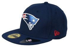 New Era 5950 NFL New England Patriots Navy Metal Fitted Cap Hat #NewEra #NewEnglandPatriots