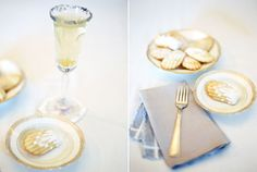 St. Germain & champagne, with a rim of lavender sugar?  As pretty as the gold rimmed china.