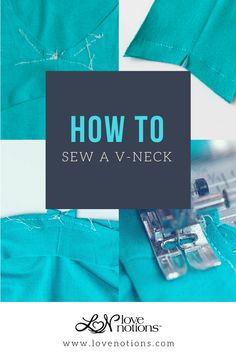 Learn how to easily sew a v-neck with this quick video tutorial. #lovenotions #sewing #sewingtutorial #v-neckdiy