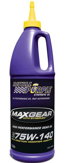 Royal Purple Max Gear 75W-140 è un olio 100% sintetico progettato per la massima protezione degli organi di trasmissione e la massima longevità. In Italia: www.AUTOGOLD.it  #RoyalPurple
