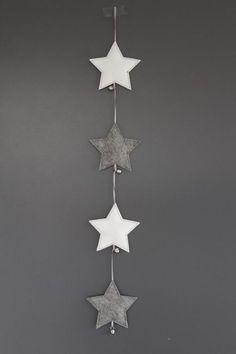 ♥ DIY: felt stars. God Jul - scandinavian Christmas