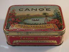 VERY FINE CONDITION - 1. Edition - Early CANOE Tobacco Tin Shag Tobacco