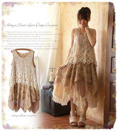 Kleid tunika vintage spitze lagenlook odd charleston antik molly shabby chic | Kleidung & Accessoires, Damenmode, Kleider | eBay!