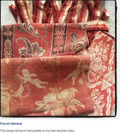 French general post about old french fabrics.