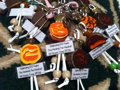 Cute Girl Scout cookie SWAP- I know I can buy foam cookie 'beads' at Michael's...