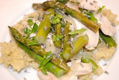 Lavender Chicken with Asparagus - 4 Points+.  Now, where does one find lavender as a cooking ingredient?