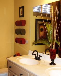 brown and red bathroom | my web value