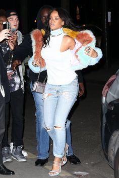 Rihanna in Paris, France.