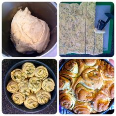 Twirly wirly garlic and herb bread (home-made of course) in the thermomix Bread Recipes, Baking Recipes, Thermomix Bread, Herb Bread, Easy Party Food, Base Foods, Everyday Food, Sweet Recipes, Garlic