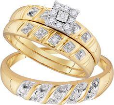 96756- 0.13CTW DIAMOND FASHION TRIO-SET