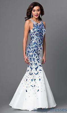 Metallic Peacock Embroidered Dress