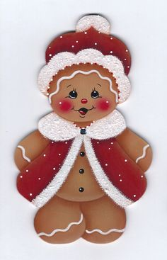 Dressed for Santa Gingerbread Painting by GingerbreadCuties