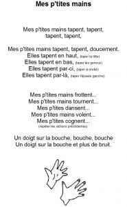 Comptine Mes p'tites mains - Dessine-moi une histoire French Teaching Resources, Teaching French, Circle Time, French Language, Art For Kids, Preschool, Activities, Education, Hands