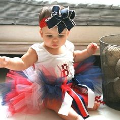 Red Sox Baby Girl!!!!! Oh if I have a girl, we are sooo gonna need this :) Boston Sports, Boston Red Sox, Future Daughter, Future Baby, Red Sox Nation, Girls Socks, Tutus For Girls, My Little Girl, Karneval