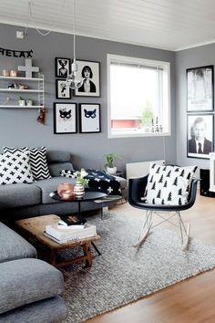 Vivienda con una base en gris