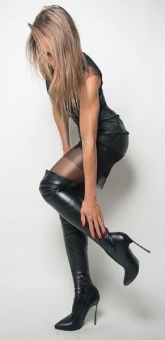 Leather High Heel Boots, Thigh High Boots, Heeled Boots, Ankle Boots, Frauen In High Heels, Sexy High Heels, Sexy Boots, Cool Boots, White Boots