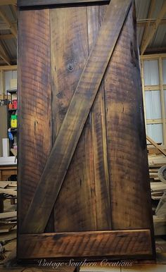 Barn wood entryway door built by Vintage Southern Creations Rustic Farmhouse Furniture, Cool Diy, Barn Wood, Diy Design, Man Cave, Hardwood Floors, Diy Ideas, Entryway, Southern