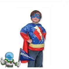 Un superhéroe para todo el año. Disfraz infantil de melissa & doug disponible en astrolibros.com