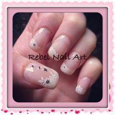 By Rebel Nail Art Via Flickr Photo French Polish Belle