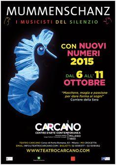 Dal 6 all'11 ottobre 2015 i #Mummenschanz a #Milano al Teatro #Carcano.