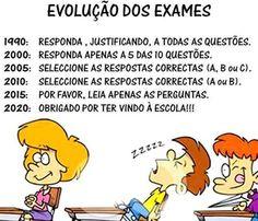 Humor evolução dos exames