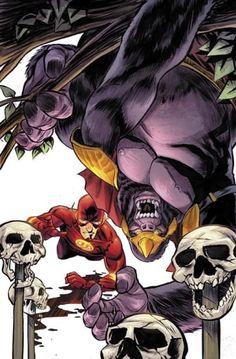 The Flash vs Gorilla Grodd Dc World, Hero World, Robin Comics, Dc Comics Art, Comic Book Heroes, Comic Books, Dc Universe, Dibujo, Artists